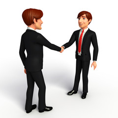 Young Business Man with shake hand
