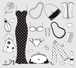 Black & white ladies fashion set