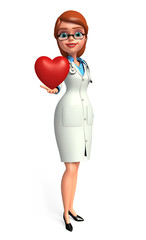Young Doctor with heart