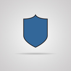 Vector protection icon with shadow.