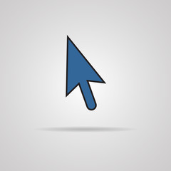 Arrow cursor icon with shadow.
