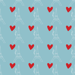 pattern with Eiffel Tower