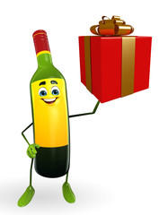 Wine Bottle Character with gift box