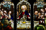 The last supper in stained glass - Fine Art prints