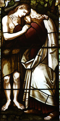The Prodigal son in stained glass