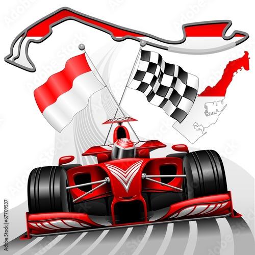 Foto op Plexiglas F1 Formula 1 GP Monaco