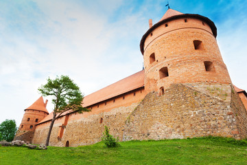 Trakai castle walls and towers