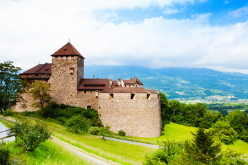 Royal castle in Vaduz, Liechtenstein