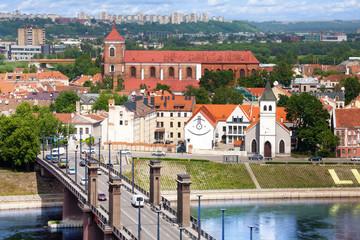 Kaunas downtown panorama