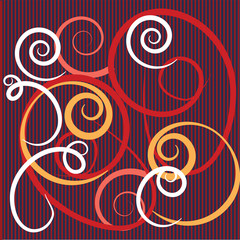 vector abstract background with colorful flourishes