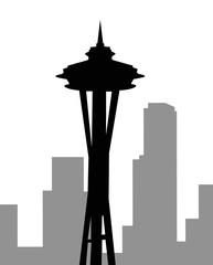 Seattle skyline-vector