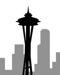 Seattle skyline-vector