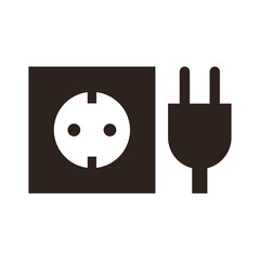 Plug and socket icon