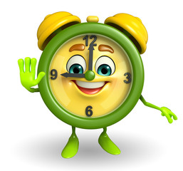 Table clock character with stop pose