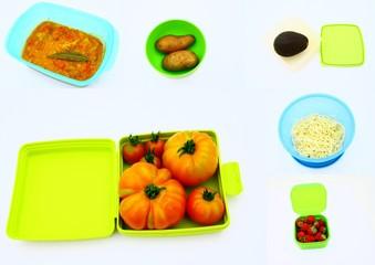 composition de boites plastiques pour conservation des aliments