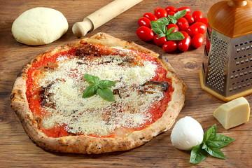Pizza siciliana alla norma
