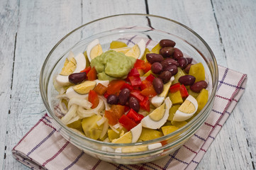 Potato Salad with avocado mayonnaise