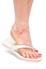 a foot in flip-flops
