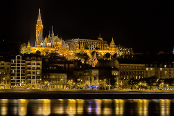 Danube Night View in Budapest