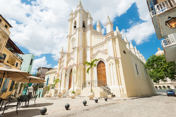 The church of El Angel in Old Havana