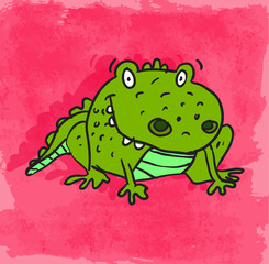 cartoon alligator illustration