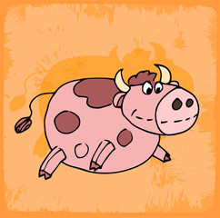 cartoon cow illustration