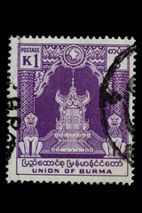Alte Briefmarke_Union of Burma