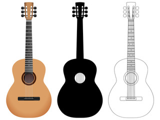 acoustic guitar set