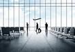 Leinwanddruck Bild - businessman in airport