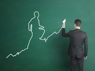 businessman drawing  the chart