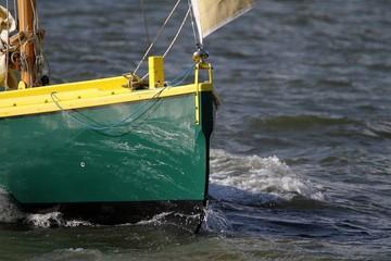 étrave de bateau traditionnel en bois,vieux gréement