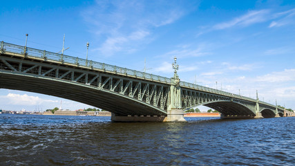 Trinity bridge across the Neva, St. Petersburg