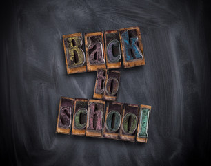 School concept with back to school stamps