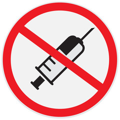 No drugs allowed sign