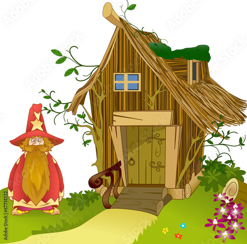 Fabulous house of  made of twigs