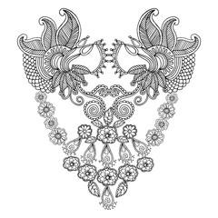 Neckline embroidery pattern