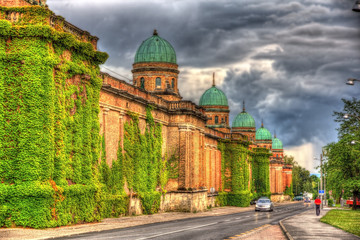 Walls of Mirogoj Cemetery in Zagreb, Croatia
