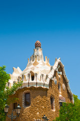Casa del Guarda  in Park Guell. Barcelona, Spain