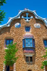 Casa del Guarda  in Park Guell. Barcelona, Spain