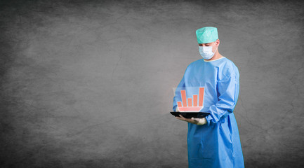 Arzt Hologramm Technologie Interface