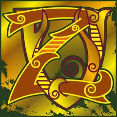 монограмма,V,Z