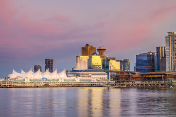 Vancouver Waterfront at Sunset