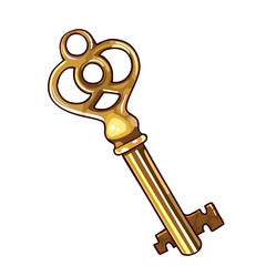 painted golden key