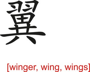 Chinese Sign for winger, wing, wings