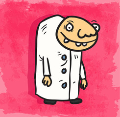 Cartoon scientist illustration