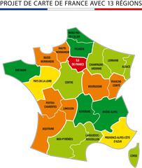 carte de france 13 regions kazy