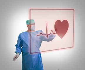 Chirurgie Arzt Kardiologie Hologramm Herz