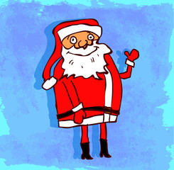 Cartoon santa illustration