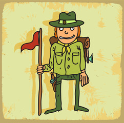 Cartoon scout illustration