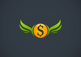 dollar-sign-with-wings-logo